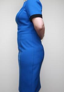Blue Dress side after