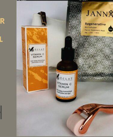 cinch derma-roller collagen boost facial kit £59.00